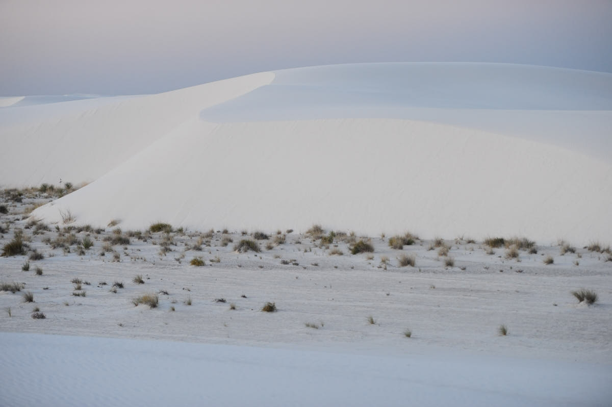 NM: Sunrise Over Gypsum Dunes at White Sands National Monument