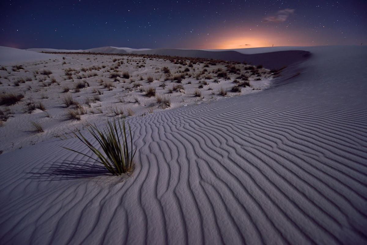 NM: Night Exposures Over Gypsum Dunes at White Sands National Monument