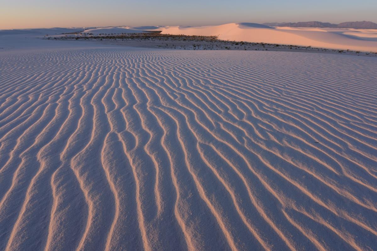 NM: Sunrise Over Gypsum Dunes at White Sands National Monument
