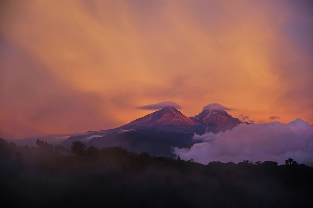 Ecuador: Los Illinizas Lenticular Sunset