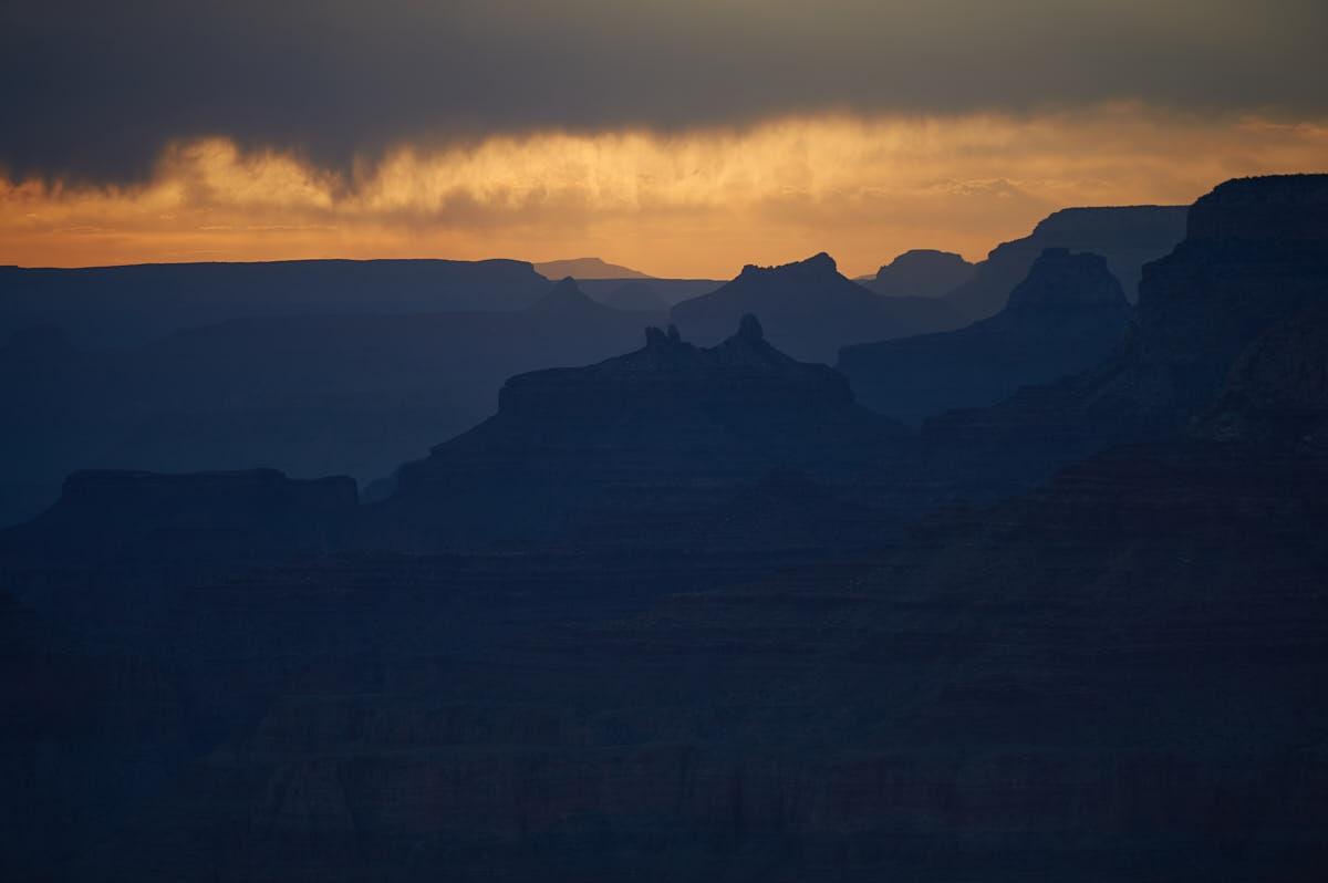 AZ: Sunset Over Grand Canyon