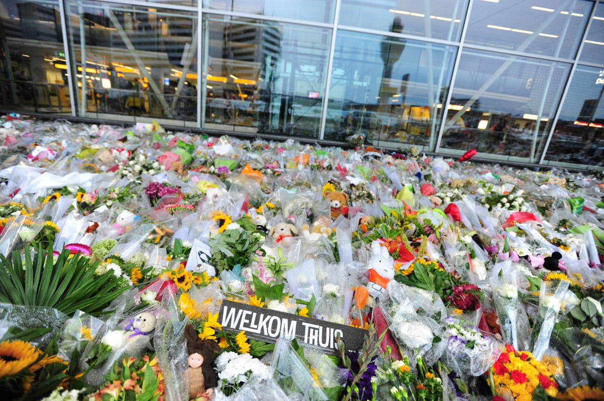 NL: MH17 Memorial at Amsterdam Schiphol Airport