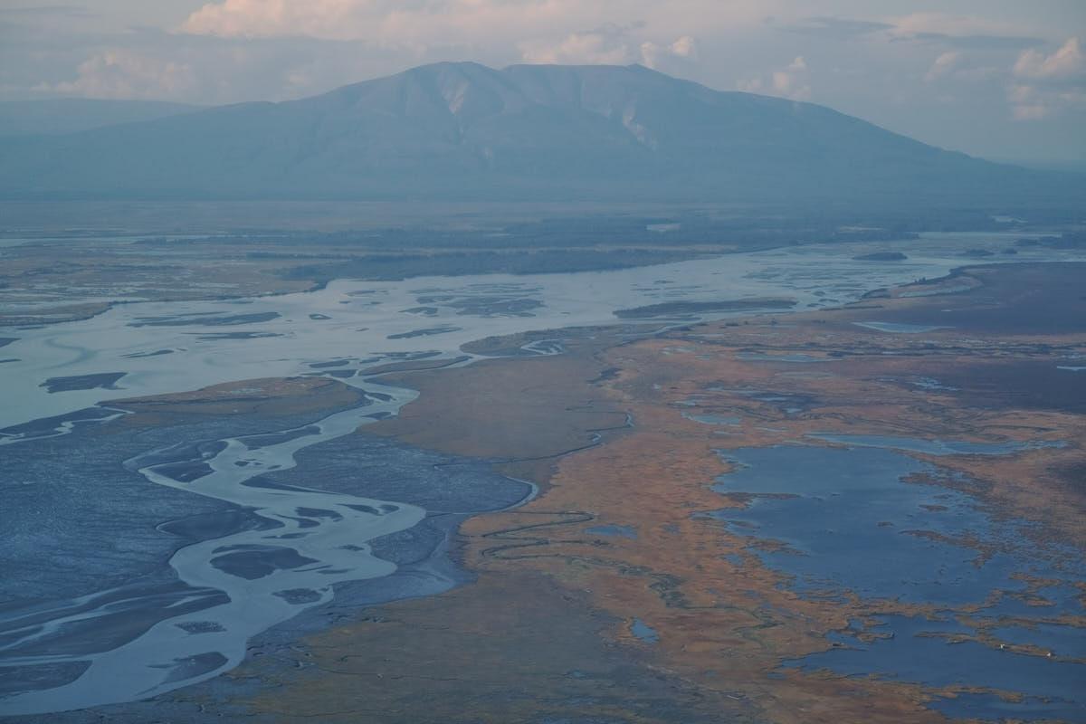 AK: Flying Through Lake Clark Pass